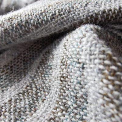 Lichen Rock Men's Shetland Wool Hand Woven Scarf