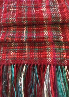 Hand Woven Wool Scarf 'Shepherds Warming'